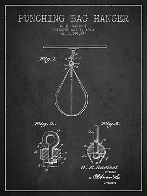 Striking Bag Digital Art - 1940 Punching Bag Hanger Patent Spbx13_cg by Aged Pixel