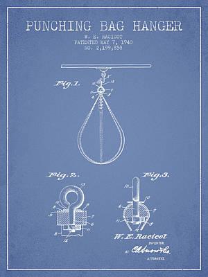 1940 Punching Bag Hanger Patent Spbx13_lb Art Print