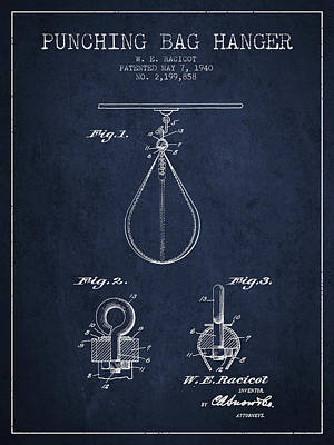 1940 Punching Bag Hanger Patent Spbx13_nb Art Print by Aged Pixel