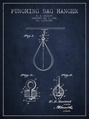 1940 Punching Bag Hanger Patent Spbx13_nb Art Print