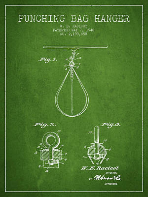 1940 Punching Bag Hanger Patent Spbx13_pg Art Print by Aged Pixel