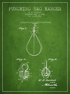 Striking Bag Digital Art - 1940 Punching Bag Hanger Patent Spbx13_pg by Aged Pixel