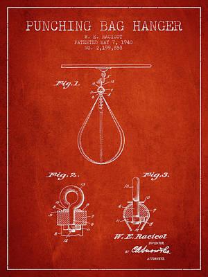 Striking Bag Digital Art - 1940 Punching Bag Hanger Patent Spbx13_vr by Aged Pixel