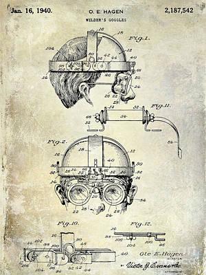 1940 Welders Goggles Print by Jon Neidert