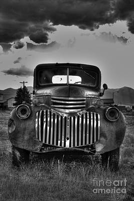 Photograph - 1940's Chevrolet Grille by Tony Baca
