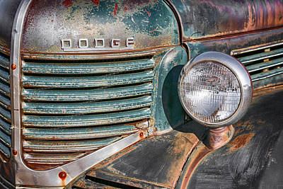 Photograph - 1940s Dodge Truck Front Grill And Headlight by Gigi Ebert