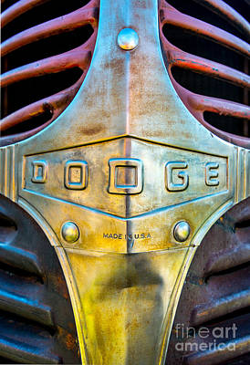 1940s Dodge Truck Grill Detail Print by Gary Whitton