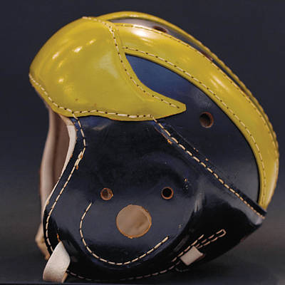 Photograph - 1940s Leather Wolverine Helmet by Michigan Helmet