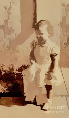 Art Print featuring the photograph 1940s Little Girl by Linda Phelps