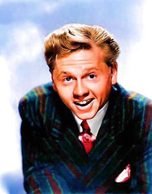 Digital Art - 1940's Mickey Rooney by Marlene Watson