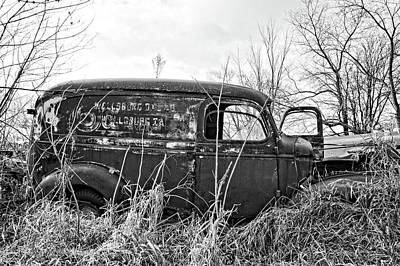 1940s Panel Truck Bnw Art Print by Bonfire Photography