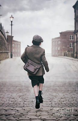 Photograph - 1940s Schoolboy by Lee Avison
