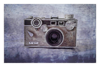 Photograph - 1940's Vintage Argus Camera With Border by Tony Grider