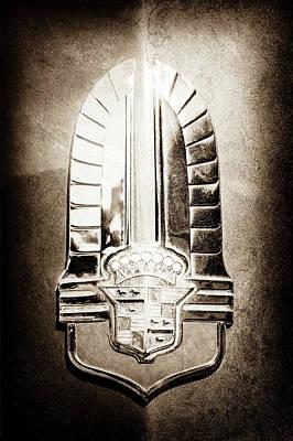 Photograph - 1941 Cadillac Emblem -1770s by Jill Reger