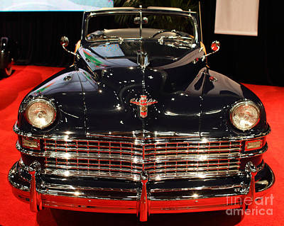 1941 Cadillac Series 62 Convertible Coupe Photograph - 1941 Cadillac Series 62 Convertible Coupe . Front View by Wingsdomain Art and Photography