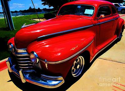 Photograph - 1941 Candy Apple Red Oldsmobile by Diana Mary Sharpton