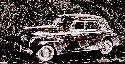 Mixed Media - 1941 Chevrolet Ag Master Deluxe by Susan Maxwell Schmidt