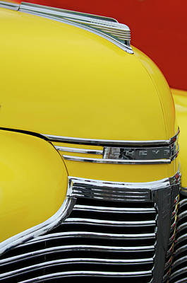 1941 Chevrolet Sedan Hood Ornament 2 Art Print by Jill Reger