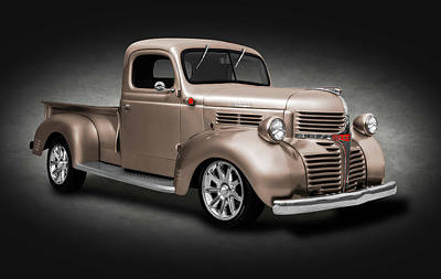 Photograph - 1941 Dodge Pickup Truck  -  1941dodgepickupcolorspottext184138 by Frank J Benz