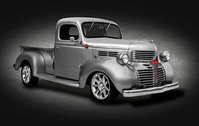 Photograph - 1941 Dodge Pickup Truck  -  1941dodgetrucksilvspottext184138 by Frank J Benz