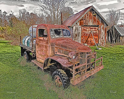 Photograph - 1941 Dodge Truck #2 by Mark Allen