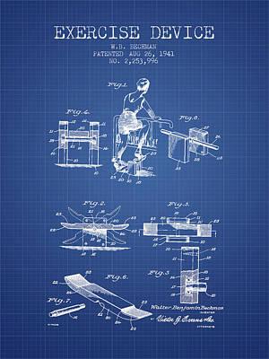 1941 Exercise Device Patent Spbb10_bp Art Print