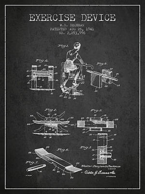 Weightlifting Wall Art - Digital Art - 1941 Exercise Device Patent Spbb10_cg by Aged Pixel