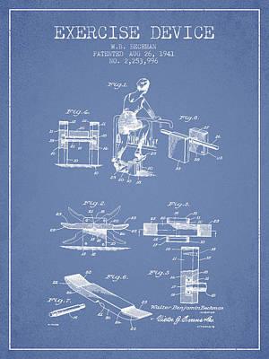1941 Exercise Device Patent Spbb10_lb Art Print