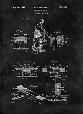 Muscle Mixed Media - 1941 Exercising Apparatus Patent by Dan Sproul
