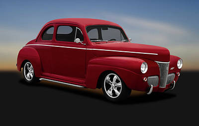 Photograph - 1941 Ford 5 Window Sedan Coupe  -  1941fordsedancoupe383stroker184429 by Frank J Benz