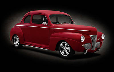 Photograph - 1941 Ford 5 Window Sedan Coupe  -  1941fordsedancoupespttext184429 by Frank J Benz