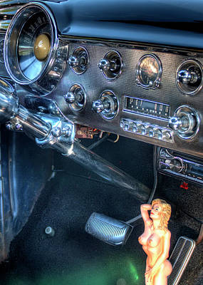 Pittsburgh According To Ron Magnes - 1941 Ford Coupe Custom Dashboard and Gearshift by Doug Matthews