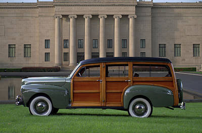 Photograph - 1941 Ford Super Deluxe Country Squire Woody Station Wagon by Tim McCullough