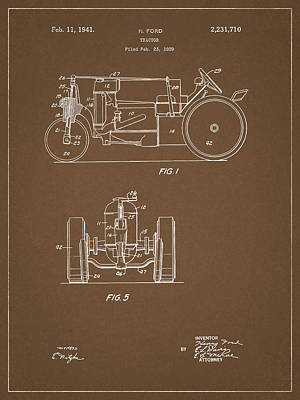 Mixed Media - 1941 Ford Tractor by Dan Sproul