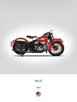 Harley Davidson Photograph - 1941 Harley Model Wld by Mark Rogan