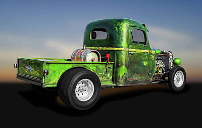 Photograph - 1941 International Pickup Truck Rat Rod  -  1941internationalratrodpickuptruck184412 by Frank J Benz