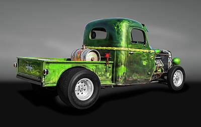 Photograph - 1941 International Pickup Truck Rat Rod  -  1941internationalratrodtrkgray184412 by Frank J Benz