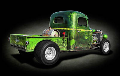 Photograph - 1941 International Pickup Truck Rat Rod  -  1941internationalratrodtrkspttex184412 by Frank J Benz