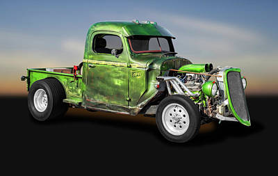 Photograph - 1941 International Pickup Truck Rat Rod  -  1941internationalratrodtruck184410 by Frank J Benz
