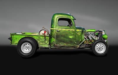 Photograph - 1941 International Pickup Truck Rat Rod  -  1941internationalratrodtruckgray184407 by Frank J Benz