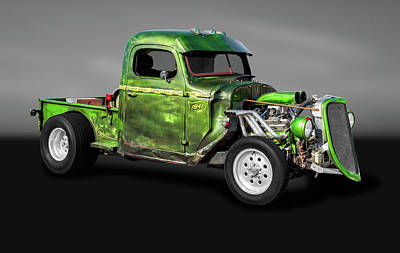 Photograph - 1941 International Pickup Truck Rat Rod  -  1941internationalratrodtruckgray184410 by Frank J Benz