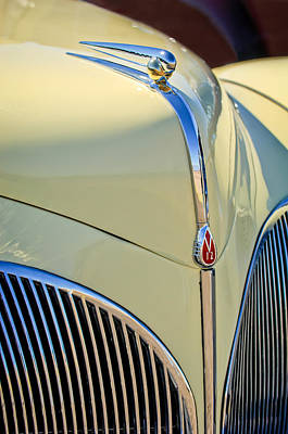 1941 Photograph - 1941 Lincoln Continental Cabriolet V12 Grille by Jill Reger