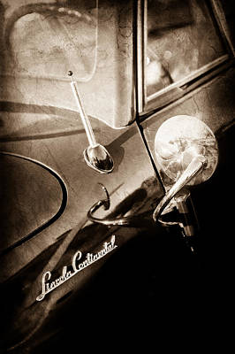 Lincoln Photograph - 1941 Lincoln Continental Convertible Emblem -0507s by Jill Reger