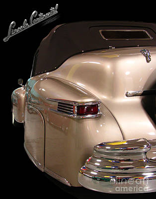 Automotive Drawing - 1941 Lincoln Continental  by Peter Piatt
