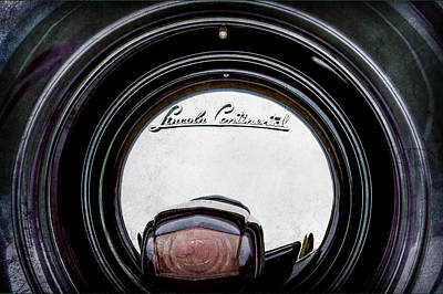 Lincoln Photograph - 1941 Lincoln Continental Spare Tire Emblem - 1963ac by Jill Reger