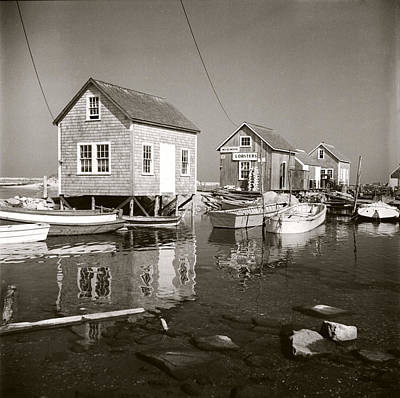 Photograph - 1941 Lobster Shacks, Martha's Vineyard by Historic Image