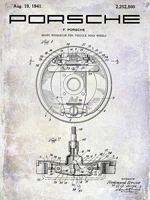 Mechanism Photograph - 1941 Porsche Brake Mechanism Patent by Jon Neidert