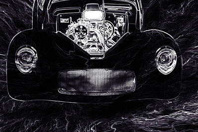 Photograph - 1941 Willys Coope Classic Car Drawing 1245.01 by M K Miller