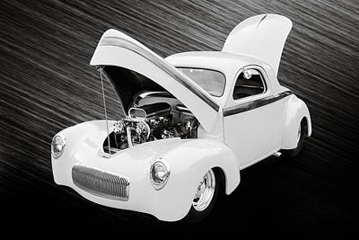 Photograph - 1941 Willys Coope Classic Car Photograph 1225.01 by M K Miller