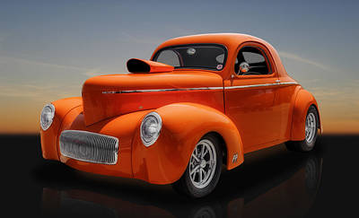 Photograph - 1941 Willys Coupe by Frank J Benz